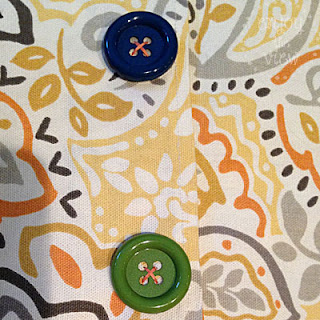 print pillow cover with buttons