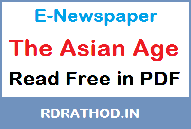 The Asian Age E-Newspaper of India | Read e paper Free News in English Language on Your Mobile @ ePapers-daily