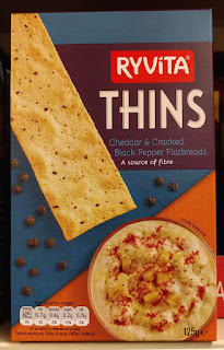 Ryvita Thins Cheddar & Cracked Black Pepper Flatbread