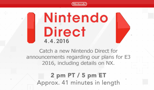 Novo Nintendo Direct dia 4 Ndirect4.4.2016