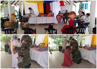 hoyennoticia.com, Ejército y Anas Wayuu homenajearon a niños indígenas en La Guajira