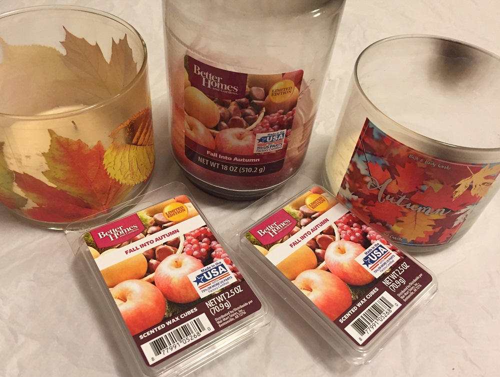 Image of Bath & Body Works candles & Better Homes & Gardens Wax Cubes