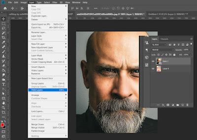 Menyembunyikan layer adobe photoshop