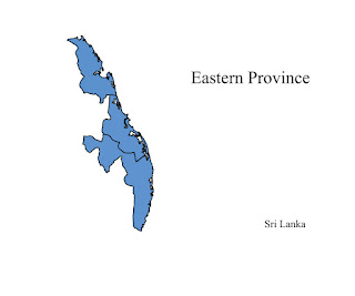 free download vector editable svg map of eastern province sri lanka