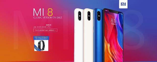 Смартфон Xiaomi Mi 8 SALE + подарък гривна Xiaomi Mi Band