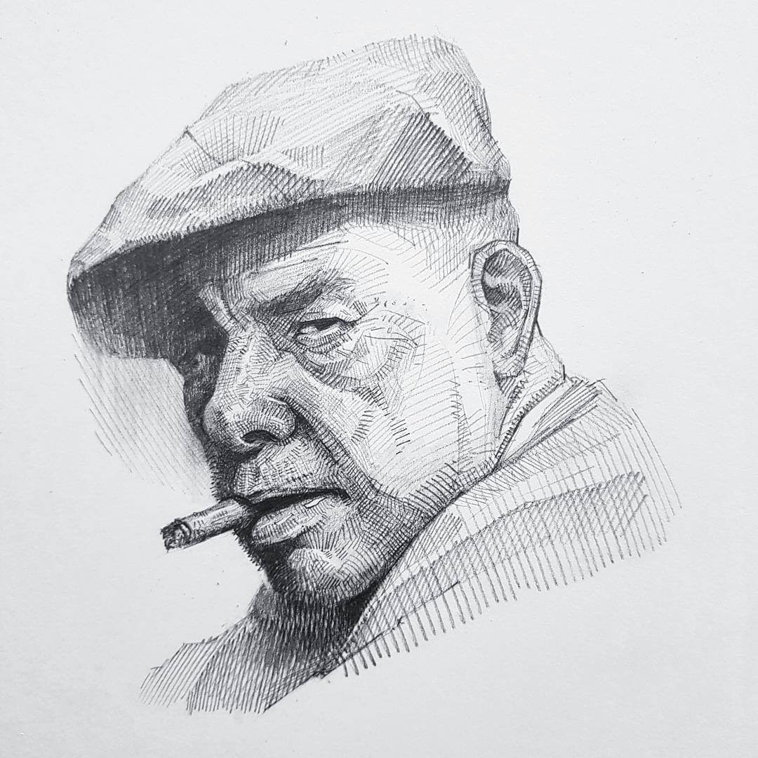 01-Yun-Ho-Kim-Expressions-in-Different-Pencil-Portrait-Styles-www-designstack-co