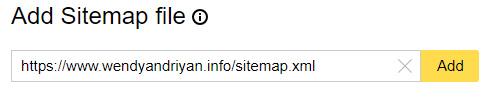 Cara menambahkan Sitemap Pada Yandex