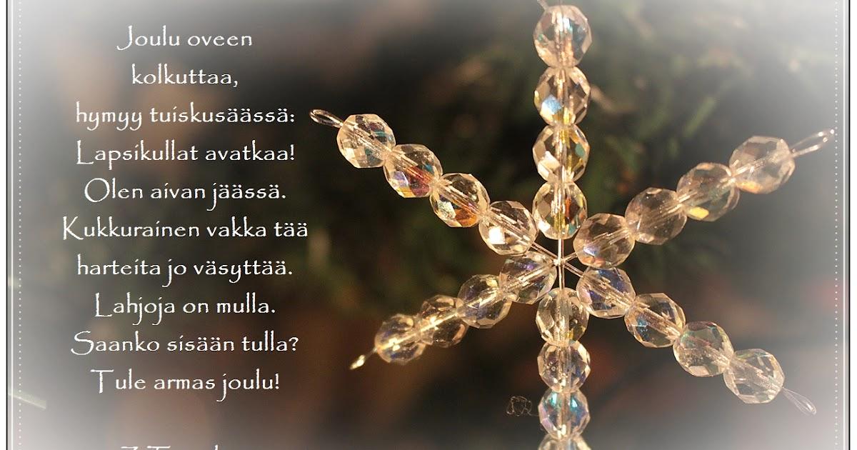Jouluruno Ystävälle