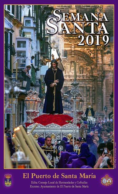 Cartel que anuncia la Semana Santa de El Puerto de Santa María (Cádiz) 2019