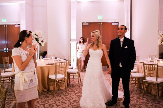 Wedding Planner showing couple reception