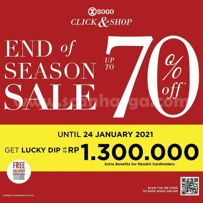 SOGO END OF SEASON SALE with SOGO Click & Shop! Disc. up to 70% off