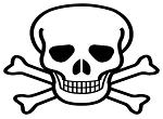 Caveira representa perigo dos agrotóxicos