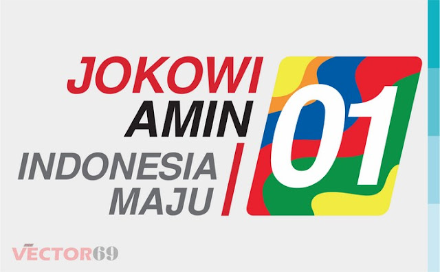 Logo Kampanye Jokowi-Amin Capres 01 Indonesia Maju - Download Vector File SVG (Scalable Vector Graphics)