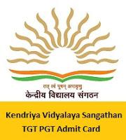 Kendriya Vidyalaya Sangathan TGT PGT Admit Card