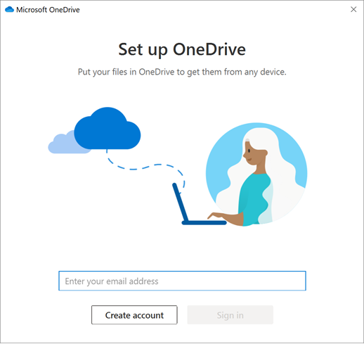 How to create account for OneDrive