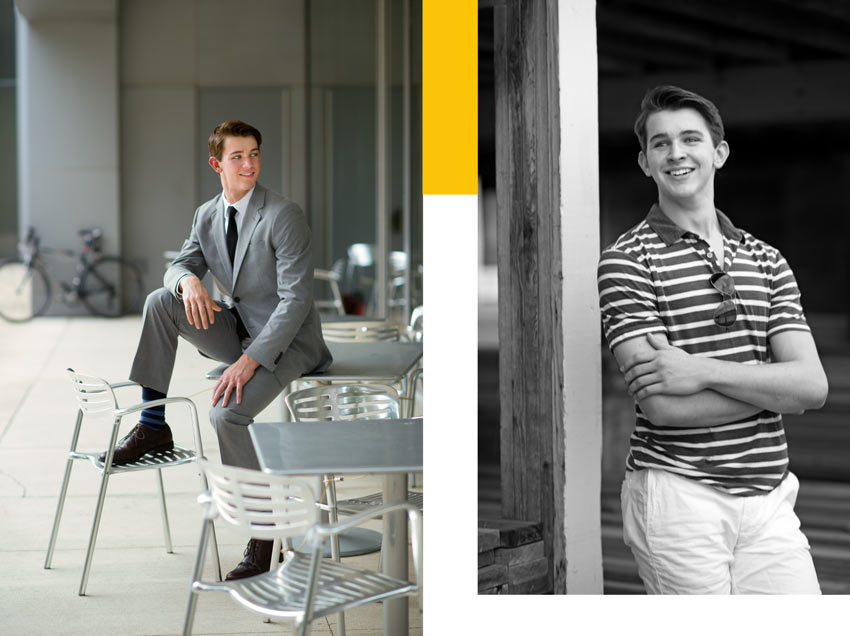 Pioneer High School Senior Pictures - guy poses - Ann Arbor  - Sudeep Studio.com