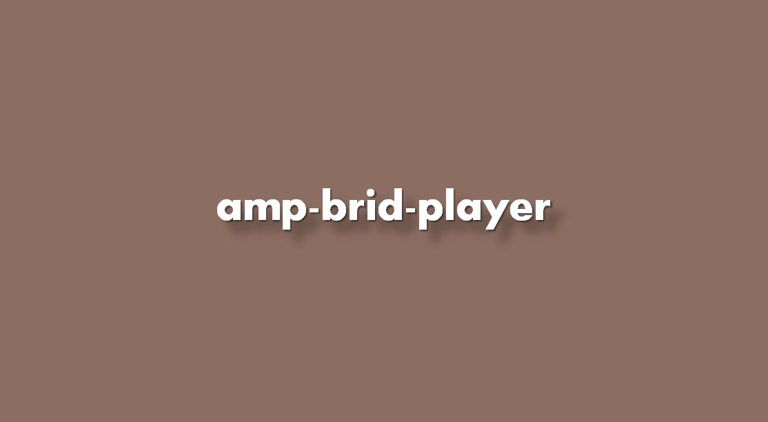 Instrucciones de implementación amp-brid-player
