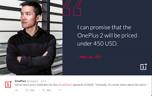 OnePlus 2 Estimate Pricing And Ram Memory Reveal By The Company