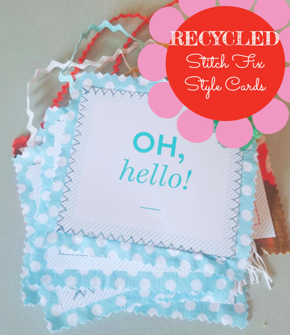 Recycled Stitch Fix Style Cards