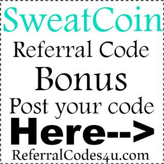 Sweatcoin App Referral Code, Sweatcoin App Invite Code & Sweatcoin App Sign Up Bonus