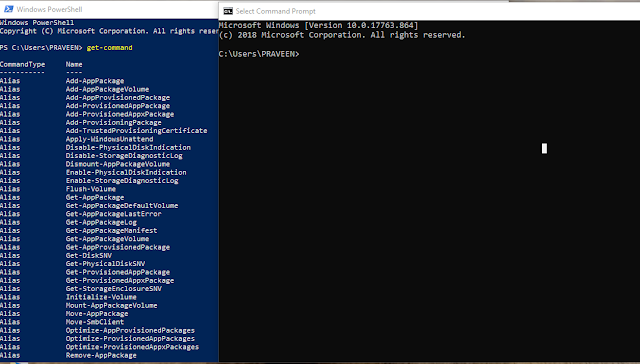 CMD and Powershell