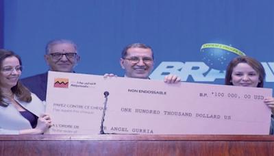 Brésil: le chef du gouvernement marocain remet le Grand Prix mondial Hassan II pour l'eau à l'OCDE