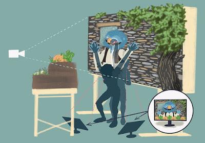 """Ilustración donde se explica cómo se rueda """"El Cau de les Feretes"""" por Mirilustra"""