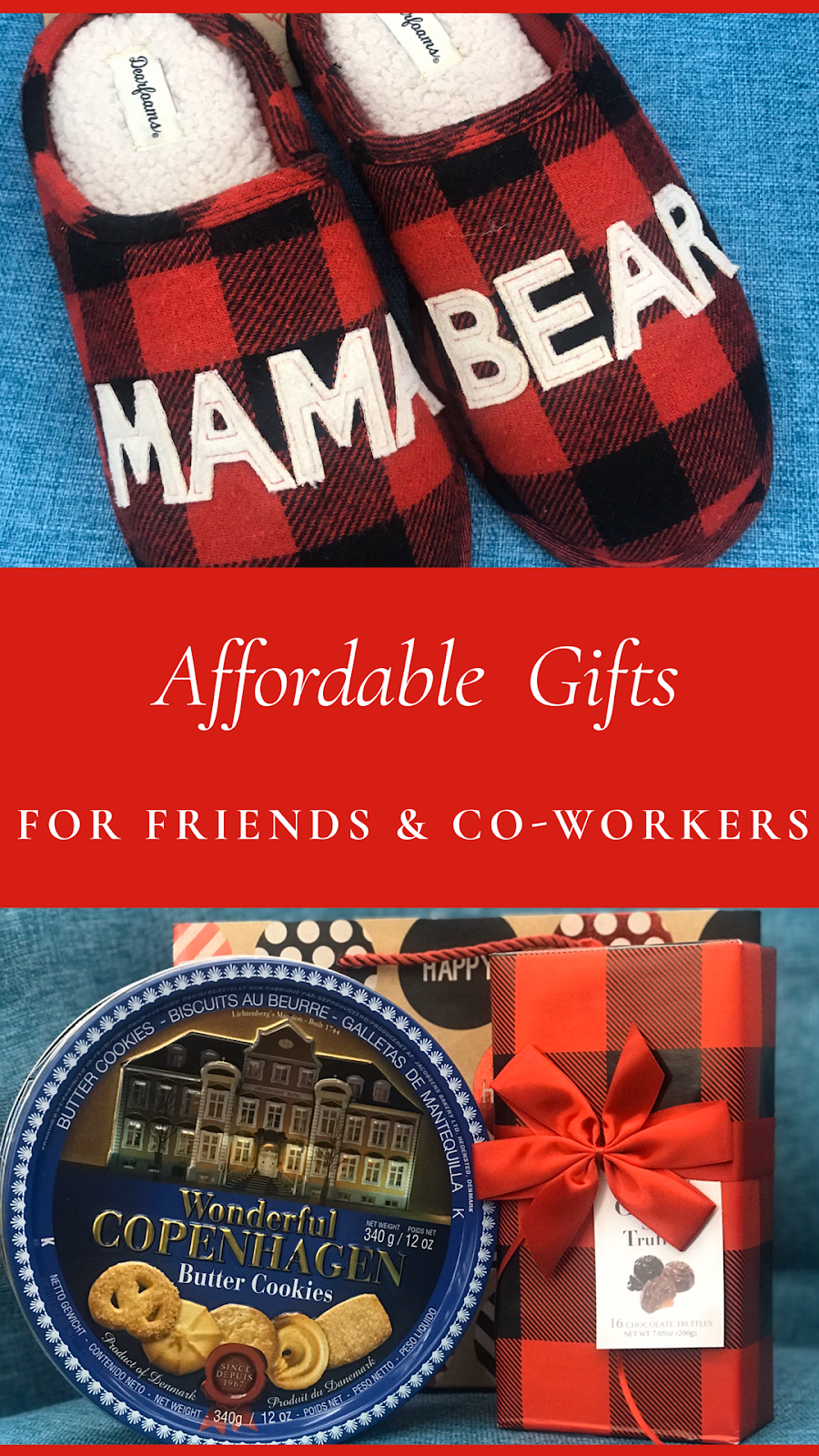Making affordable lists for Christmas gift giving : friends and co-workers
