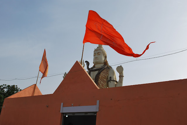 Shivji with Flag at Nageshwar Jyotirlinga Temple
