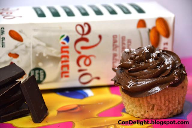 קאפקייקס שוקולד טבעוני Vegan chocolate cupcake
