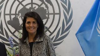 l'ambassadrice américaine à l'ONU Nikki Haley
