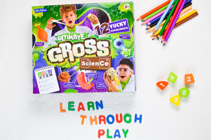 Learn through play, primary aged home learning, gross science experiments