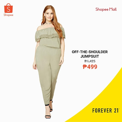 Off-the-Shoulder Jumpsuit F21 on Shopee