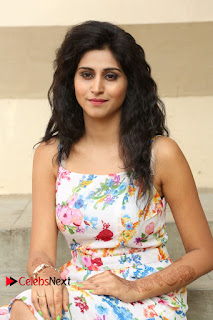 Actress Shamili Stills in Floral Short Dress at Sree Ramaraksha Song Launch 0104