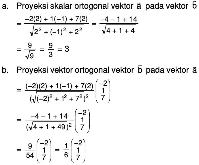 Diketahui Vektor A 2 1 7 Dan B 2 1 2 Tentukan Proyeksi