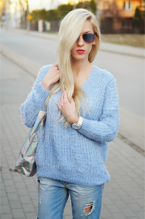 http://www.chicwish.com/v-neck-fluffy-oversize-sweater-in-blue.html