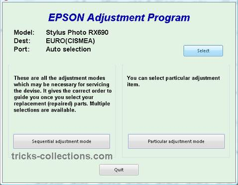 Epson RX690 Resetter Download
