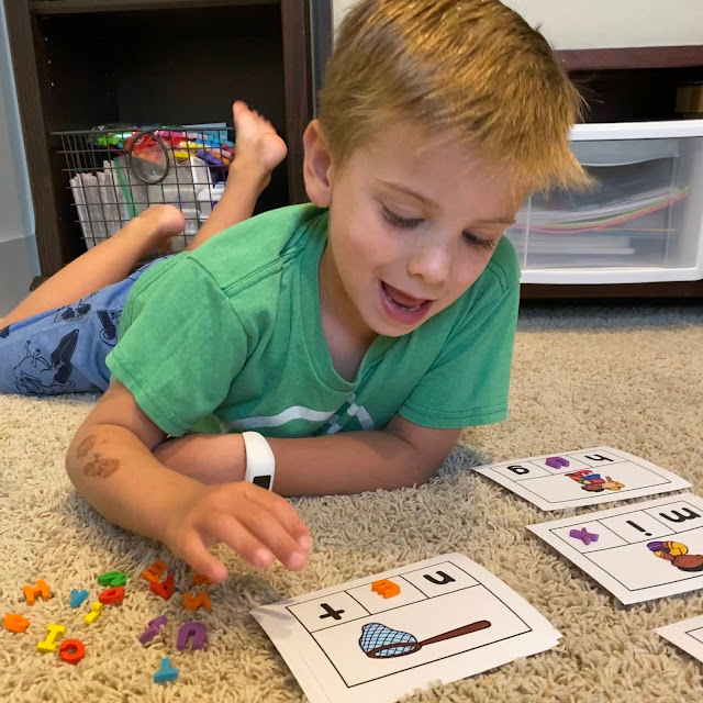 Use letter erasers or magnetic letters for CVC Word Work