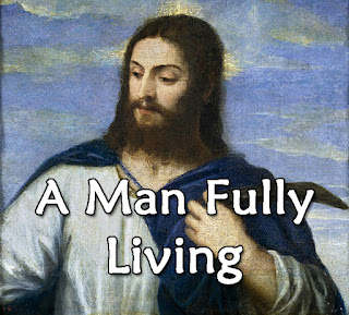 Jesus - classical painting wearing a blue cloak and white tunic:   In him we knew a fullness never known before, in him we saw a man fully living.  1  In him we see the God who can't be seen; in him all things that will be or have been have roots and take their being.   2 The universe, and all its millions teeming, seen and unseen, in him find their meaning, their reason and their value. 3  He lives in those who, breathing with his breath, source of their life, and conqueror of their death, together form his body.  4 Through his alone a world by sin defiled find its forgiveness, and is reconciled by his death our peace and healing.