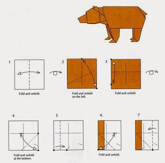 3d Origami Diagram Animals Holden Colorado Stereo Wiring Bear Qt4 Preistastisch De Images Gallery