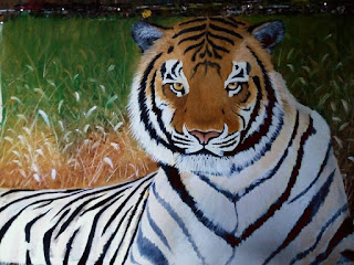 gambar lukisan harimau
