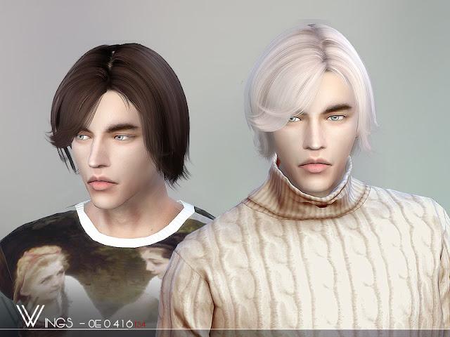 Мужские полудлинные прически для The Sims 4 со ссылками на скачивание