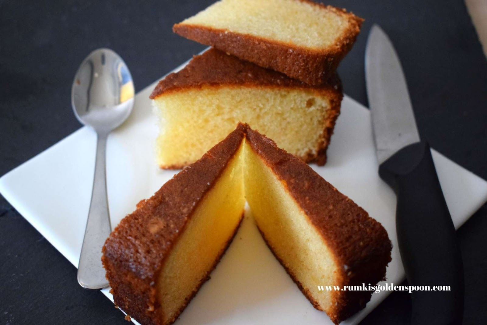 Cake Recipe, Quick and Easy, Basic Vanilla Cake (Without Hand Blender), Rumki's Golden Spoon, Sponge Cake, Tea Cake