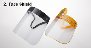 Face Shield  merupakan salah satu trend souvenir natal tahun 2020