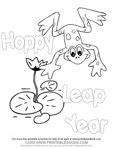 coloring pages for leap year - photo#1