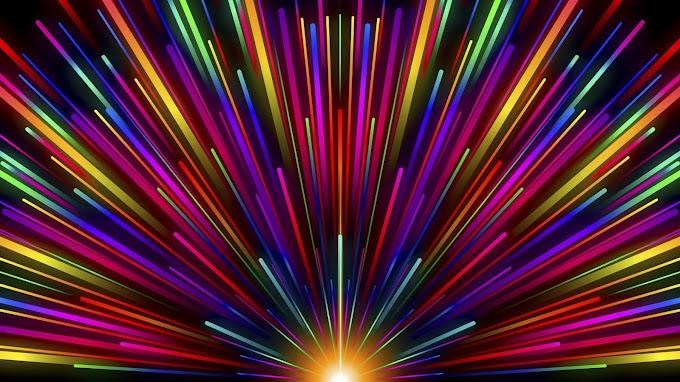 Raios, Listras, Multicoloridos, Arco-íris
