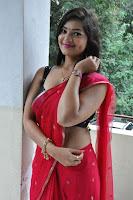 Aswini Sizzling Hot in Red Saree HeyAndhra