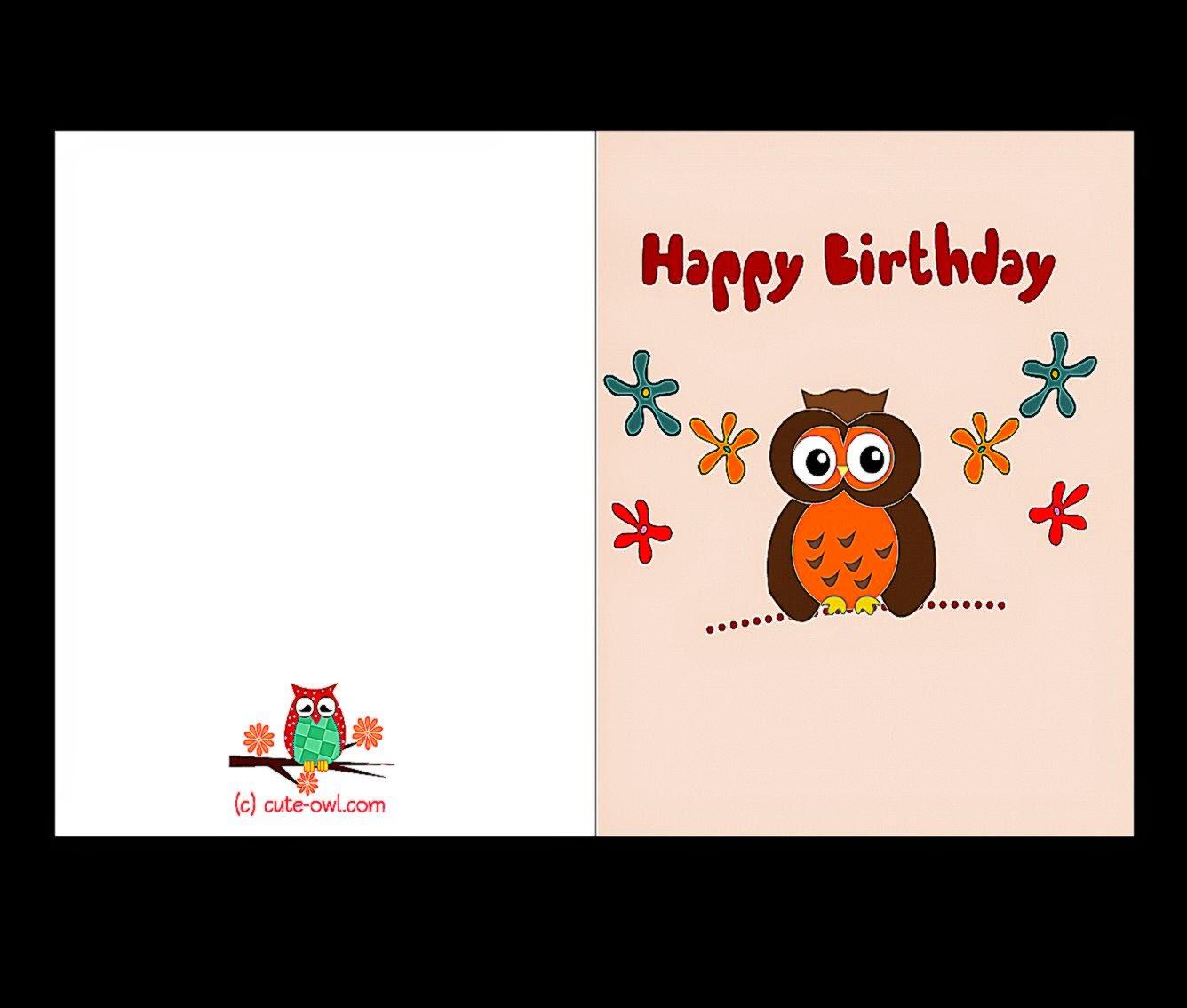 Print Birthday Cards Free