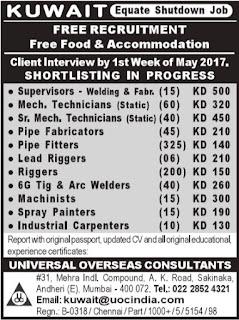 Free recruitment - Equate Shutdown in Kuwait