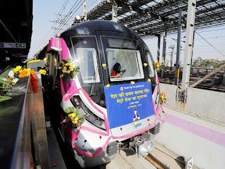 India's First Driver-Less Train on Delhi Metro's Magenta Line